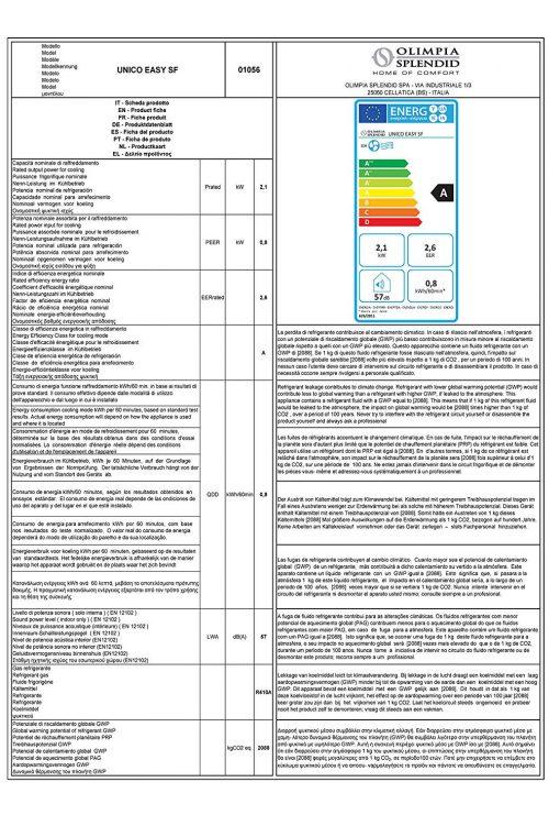 Climarizzatore Unico Easy HP Olimpia Splendid